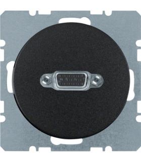 R.1/R.3 Gniazdo VGA, zaciski śrubowe, czarny, połysk Berker 3315412045