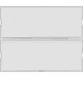 KNX e/s K.x Przycisk 2-kr z polem opis., diod. LED RGB i czuj. temp., biały