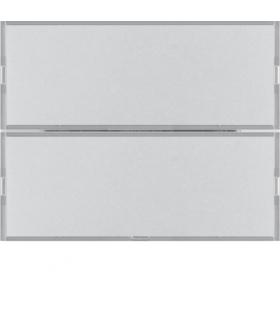 KNX e/s K.x Przycisk 2-kr z polem opis., diod. LED RGB i czuj. temp., alu