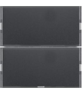 KNX e/s B.x Przycisk 2-kr z p. opis., diod. LED RGB i czuj. temp., ant. i alu