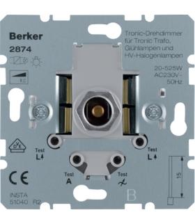 one.platform Ściemniacz obrotowy Tronic® z płynną regulacją 20-525 W, mechanizm Berker 2874