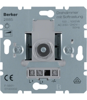one.platform Ściemniacz obrotowy z płynną regulacją 100-1000 W, mechanizm Berker 2885