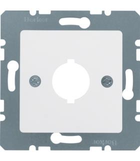 Q.x Płytka centralna z otworem Ø 18,8 mm do gniazda wyrównania potencjału pojedynczego, biały, mat Berker 14311909