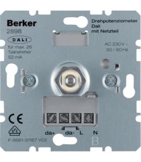 one.platform Potencjometr obrotowy DALI z wbudowanym zasilaniem, mechanizm Berker 2898