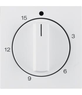 S.1/B.3/B.7 Płytka czołowa z pokrętłem regulacyjnym do mechanicznego łącznika czasowego 0-15 min, biały Berker 16321909