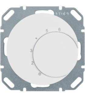R.1/R.3 Regulator temperatury pomieszczenia ze stykiem zmiennym i elementem centralnym, biały, połysk Berker 20262089