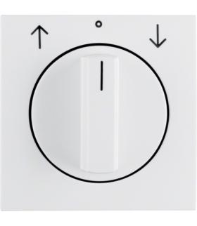 B.Kwadrat Płytka czołowa z pokrętłem do łącznika żaluzjowego obrotowego, biały, połysk Berker 5310808989