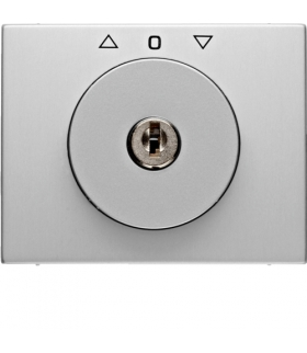 K.5 Płytka czołowa z kluczykiem do łącznika żaluzjowego obrotowego, aluminium Berker 10797203