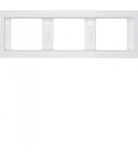 K.1 Ramka 3-krotna, pozioma, biały, połysk Berker 13737009