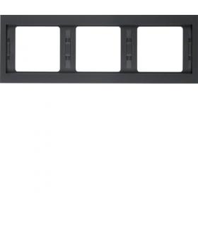 K.1 Ramka 3-krotna, pozioma, antracyt mat, lakierowany Berker 13737006