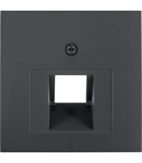 B.x Płytka czołowa do gniazda przyłączeniowego UAE 1-kr komputerowego i telefonicznego, antracyt Berker 14071606