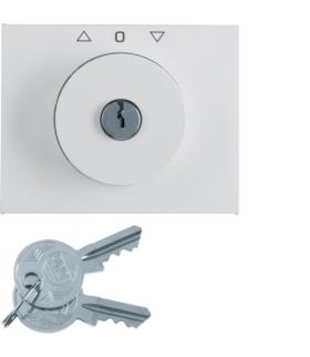 K.1 Płytka czołowa z kluczykiem do łącznika żaluzjowego obrotowego, biały Berker 10797209