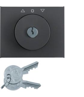 K.1 Płytka czołowa z kluczykiem do łącznika żaluzjowego obrotowego, antracyt mat, lakierowany Berker 10797206