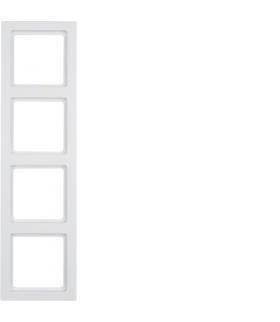Q.3 Ramka 4-krotna, biały, aksamit Berker 10146099