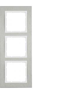 B.7 Ramka 3-krotna pozioma, stal szlachetna/biały mat Berker 10233609