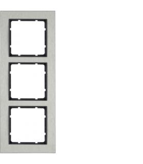 B.7 Ramka 3-krotna pozioma, stal szlachetna/antracyt mat Berker 10233606