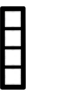 Q.7 Ramka 4-krotna, szkło, czarny Berker 10146076