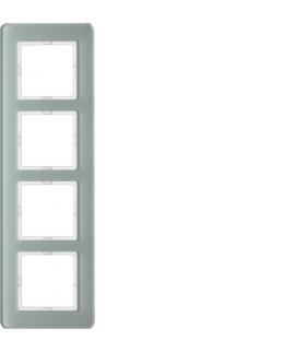 Q.7 Ramka 4-krotna, szkło, biały Berker 10146079