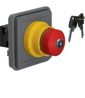 W.1 Moduł wyłącznika bezpieczeństwa na klucz, IP55, szary Berker 44713515
