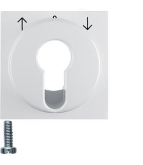 B.x/S.1 Płytka czołowa do łącznika żaluzjowego na klucz, biały, połysk Berker 15068989