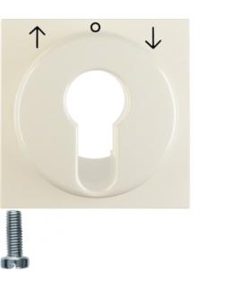 B.Kwadrat/S.1 Płytka czołowa do łącznika żaluzjowego na klucz, kremowy, połysk Berker 15068982
