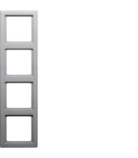 Q.1 Ramka 4-krotna, alu aksamit, lakierowany Berker 10146084