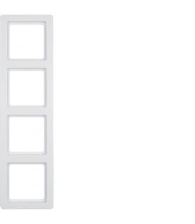 Q.1 Ramka 4-krotna, biały, aksamit Berker 10146089