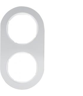 R.classic Ramka 2-krotna, aluminium/biały Berker 10122074