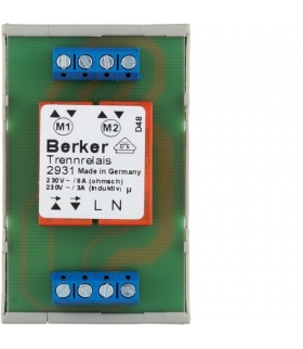 Akcesoria osprzęt Przekaźnik rozdzielający DMS, mechanizm, zaciski śrubowe Berker 2931
