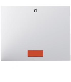 """K.1 Klawisz z czerwoną soczewką z nadrukiem """"0"""" do łącznika 1-klawiszowego, biały Berker 14177109"""