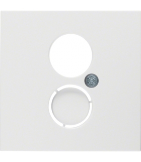 B.x/S.1 Płytka czołowa do gniazda głośnikowego i przyłączy miniaturowych, biały, połysk Berker 11968989