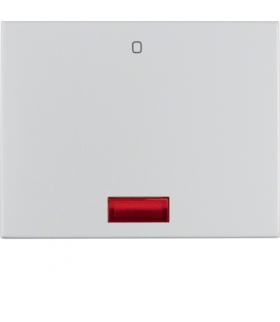 """K.5 Klawisz z czerwoną soczekwą z nadrukiem """"0"""" do łącznika 1-klawiszowego, alu Berker 14177103"""