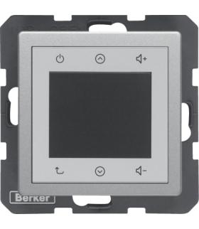 Q.x Radio Touch, alu aksamit, lakierowany Berker 28846084