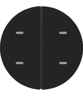 KNX e/s R.x/Serie 1930 Przycisk 2-kr z diod. LED RGB i czuj. temp., czarny,  poł.