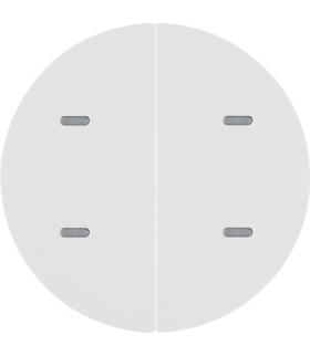 KNX e/s R.x/Serie 1930 Przycisk 2-kr z diod. LED RGB i czuj. temp., biały,  poł.
