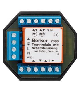 Akcesoria osprzęt Przekaźnik rozdzielający z dodatkowymi wejściami sterującymi, mechanizm, zaciski śrubowe Berker 2969