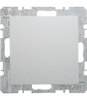 B.x/S.1 Zaślepka z płytką czołową, z cokołem i pazurkami, biały, połysk Berker 6710098989