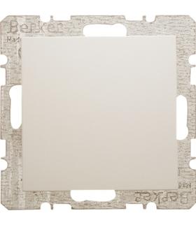 B.Kwadrat/S.1 Zaślepka z płytką czołową, z cokołem i pazurkami, kremowy, połysk Berker 6710098982