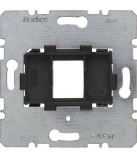 one.platform Płytka nośna pojedyncza z czarnym elementem mocującym, mechanizm Berker 454201