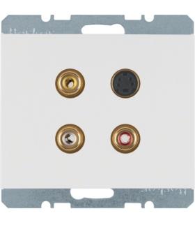 K.1 Gniazdo 3xCinch/S-Video, biały, połysk Berker 3315327009