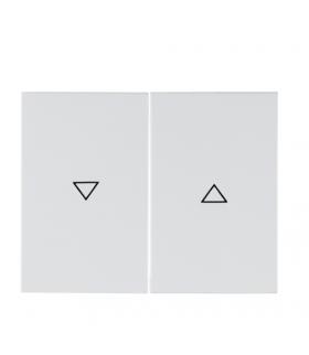 """K.1 Klawisze z nadrukiem symbolu """"strzałka"""" do łącznika 2-klawiszowego, biały Berker 14357109"""
