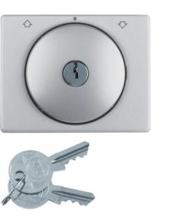 K.5 Płytka czołowa z kluczykiem do łącznika żaluzjowego obrotowego, aluminium Berker 10797103