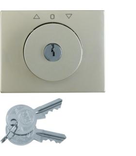 K.5 Płytka czołowa z kluczykiem do łącznika żaluzjowego obrotowego, stal szlachetna nierdzewna Berker 10797104