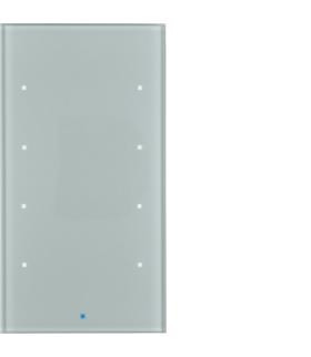 KNX TS Sensor dotykowy 4-krotny,  szkło,  alu