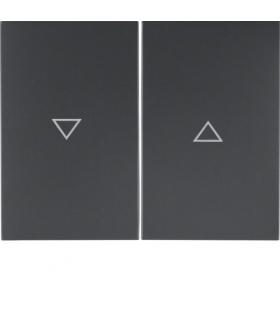 """K.1 Klawisze z nadrukiem symbolu """"strzałka"""" do łącznika 2-klawiszowego, antracyt mat, lakierowany Berker 14357106"""