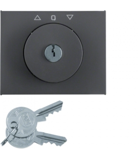 K.1 Płytka czołowa z kluczykiem do łącznika żaluzjowego obrotowego, antracyt mat, lakierowany Berker 10797106