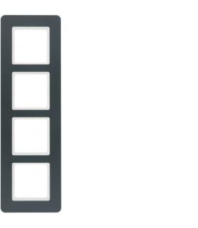 Q.7 Ramka 4-krotna, antracyt aksamit, lakierowany Berker 10146186