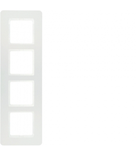 Q.7 Ramka 4-krotna, biały aksamit, lakierowany Berker 10146189