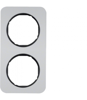 R.1 Ramka 2-krotna, alu/czarny Berker 10122184