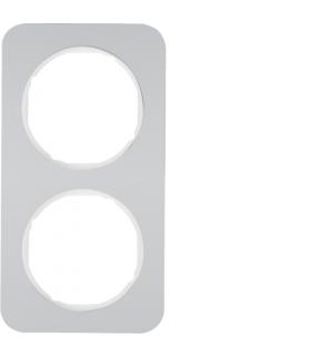 R.1 Ramka 2-krotna, alu/biały Berker 10122174